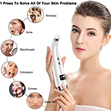 Blackhead Remover,Vacuum Blackhead Removal Peel Tool Extractor Electric Skin Pore Cleaner, Rechargeable Suction Comedone Acne Eliminator Device for Nose Face Men Women (white pore vacuum)