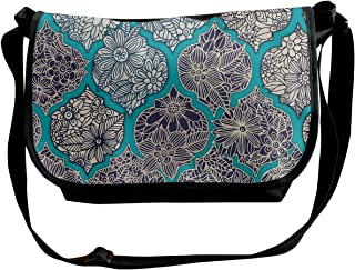 Taslilye Geometric Color Abstract Background Customized Wide Crossbody Shoulder Bag For Men And Women For Daily Work Or Travel