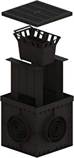 Standartark - 12 x 12 Catch Basin with Plastic Grate , Partitions , And Debris Basket Included.