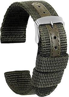 Ullchro Nylon Bracelet Montre Haute Qualité Toile Bracelet Montre Armée Militaire - 18mm, 20mm, 22mm, 24mm Montre Bracelet...