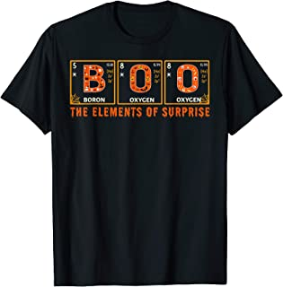 Halloween BOO Primary Elements of Surprise Science T-Shirt