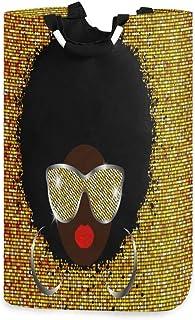 N\A Panier à Linge Tribal Femme Africaine Panier à Linge Pliable Grand Sac de Rangement, Sac de vêtements Organisateur Pli...