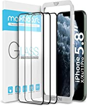 "Maxboost (3 Pack) Edge-to-Edge Screen Protector Designed for Apple iPhone 11 Pro and iPhone Xs and iPhone X (5.8"") Full Framed Tempered Glass Screen with Advanced HD Glass Work with Most Case"