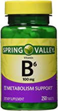 Spring Valley - Vitamin B-6 (Pyridoxine) 100 mg, 250 Tablets