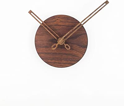 Reliable-E Wood Like Clock Face Power Movement DIY Wall Clock Kit for Home Decor