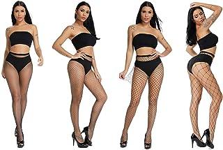 Fishnets Tights Ladies Fishnet Stockings Thin Fishnet Pantyhose Black Cross Mesh Stockings Sexy Pantyhose for Women(big-bl...