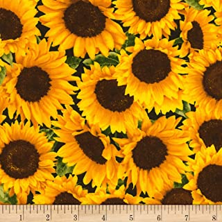 Timeless Treasures Farm Packed Sunflower Fabric by The Yard
