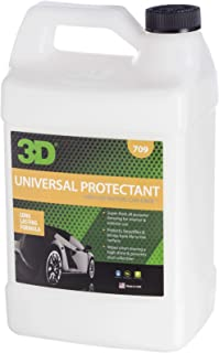 3D Universal Protectant Tire Dressing - 1 Gallon | Long Lasting, High Shine, Wipe On Tire Gloss | Non-Greasy Water Based Protectant | Made in USA | All Natural | No Harmful Chemicals