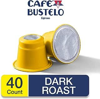 Café Bustelo Espresso Dark Roast Coffee, 40 Count, Capsule Color May Vary