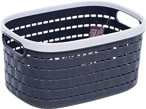 Citylife L-7263 Rattan Basket Small, 240x170x120mm, Coal