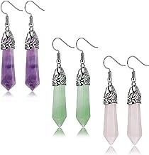 Natural Rose Quartz point Rose Quartz Earrings Silver plated Earrings Rose Quartz Gemstone Earring Point Earrings Reiki Infused,Healing