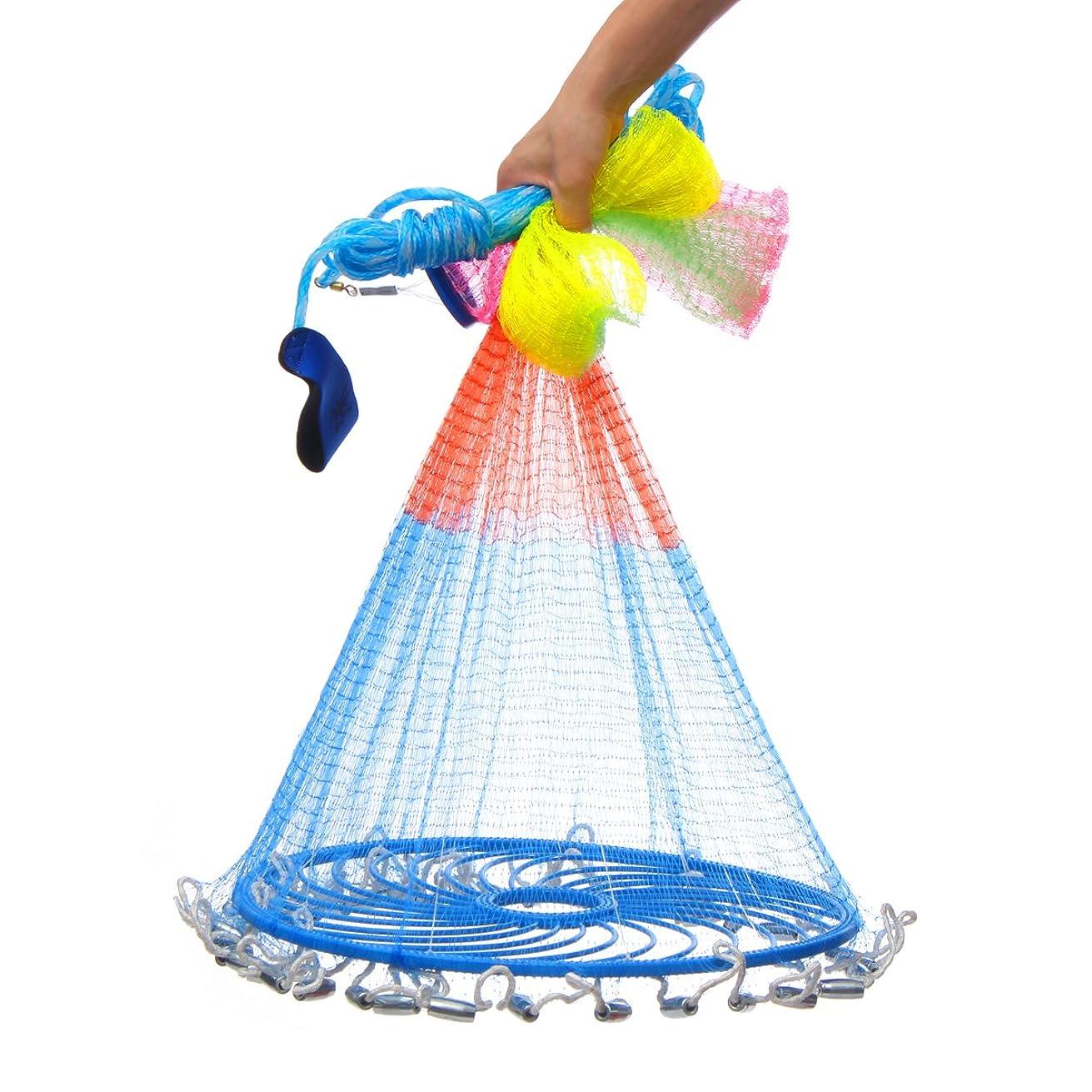 ばか放棄頼むKING DO WAY 新型 投網 漁具 螺旋式 仕掛け網 釣り網 投げ網 海 川 湖 海 磯などで お魚キラー 小魚 大漁捕穫