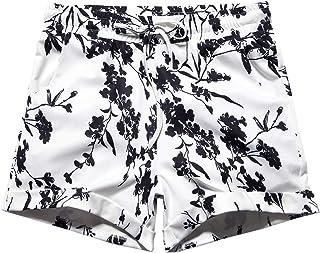 Women's Summer Drawstring Elastic Waist Casual Floral Print Beach Shorts