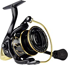 KastKing Sharky III Gold Fishing Reel, Zero-Flex Aluminum Body Spinning Reel, 39.5 Lbs Carbon Drag, 10+1 Double Shielded Ball Bearings, 5.2:1 Gear Ratio, Inshore or Freshwater.