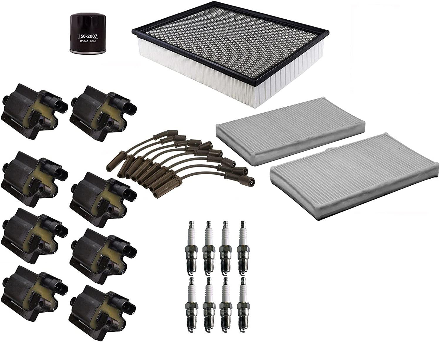 Animer and price revision Filters Superlatite Wires 8 Ignition Coils Spark Up Tune kit Plugs Compati