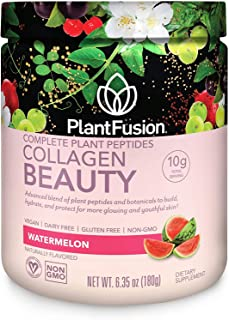 Best PlantFusion Collagen Beauty Plant Peptides Powder | Vegan Collagen Supplement for Skin Hydration, Elasticity, and More Glowing and Youthful Skin| Gluten-Free, Non-GMO | Watermelon, 6.35 Ounce Review