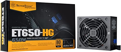 SilverStone Technology 650 Watt Semi-Modular 80 Plus Gold Computer Power Supply PSU ET650-HG