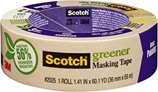 Scotch Painter's Tape 2025-36C 3M Scotch 1.41-Inch by 60.1 Yards Masking Tape for Basic Painting, 1 Roll, Width