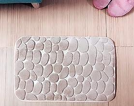 Ramcha Anti Slip Stone Memory Foam, Maximum Absorbent, Soft, Comfortable Microfibre Bathmat, 40cm x 60cm - Pack of 1 (Gold)