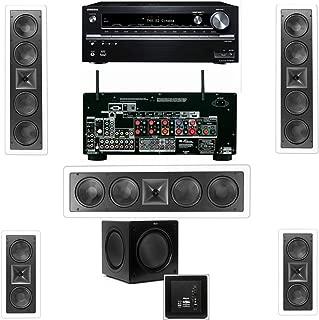 Klipsch KL-6504-THX(3 Speaker) In-Wall 5.1 SW-310 Onkyo TX-NR838 7.2-Channel Network- White