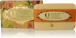 Ohria Ayurveda Haldi, Besan Goat Milk , jojoba extract coconut butter & Marigold Skin Brightening Bathing Bar/Soap, 120g