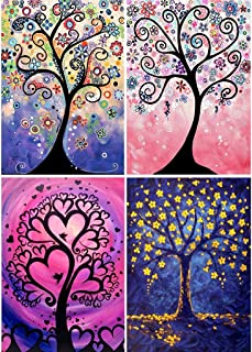 FUXU Embroidery Painting,Winter Flower Tree 5D Special Shaped Diamond Painting Embroidery Needlework Rhinestone Crystal Cross Crafts Stitch Kit DIY