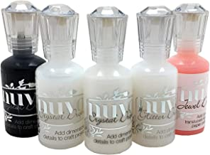 Nuvo Crystal Drops Favorites Set - Bundle of 5 Colors - White Blizzard Glitter Drops, Rosewater Jewel Drops, Crystal Drops Black, White and Clear