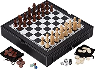 Mainstreet Classics Broadway 5-in-1 Combo Board Game Set