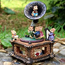 LOVE FOR YOU Music Boxes for Women Girls Mechanical Classical Turntable Musical Box Best Birthday Gift for Children,Phonograph Christmas Horns Mouse Gift Home Decorations(Rock a Baby,Classical)