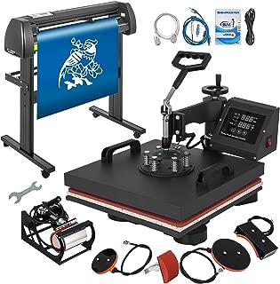 Mophorn Heat Press Machine 15x15 inch 5in1 T-Shirt Heat Press and Vinyl Cutter 28 inch Plotter Machine 720mm Paper Feed Vinyl Cutter Plotter