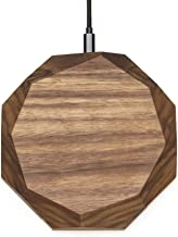 Oakywood Qi Wireless Charging Pad Wireless Charger Made of Solid Walnut Wood iPhone X Xs Xr Xs Max Samsung Galaxy S10 S9 S8