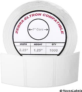 Zebra/Eltron-Compatible 2.25 x 1.25 Labels (2-1/4