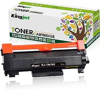 Kingjet Toner Cartridge Replacement for TN760 TN-760 TN730 TN-730 for MFC-L2710DW MFC-L2730DW MFC-L2750DW HL-L2350DW HL-L2390DW HL-L2395DW HL-L2370DW DCP-L2550DW Printer Ink