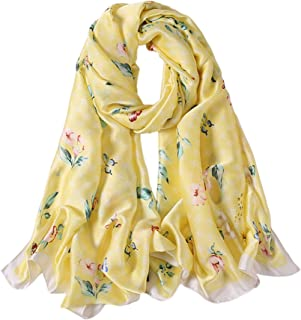 ALBERTO CABALE Nature Scarf Butterflies Flowers Silk Stole Summer Accessory Reception Dinner Event Originality Woman