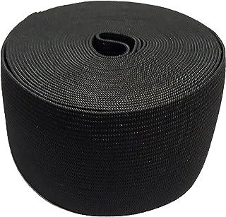 5CM de ancho 5 metros de largo Negro viscosa elástico que hace punto elástico de la banda carrete con alta elasticidad