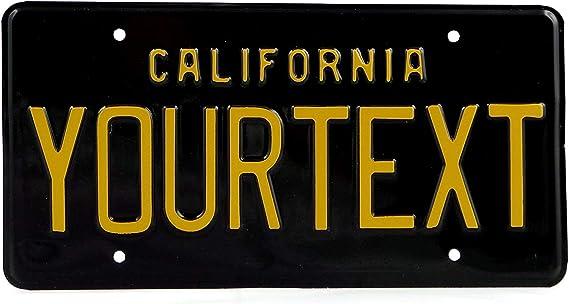 Kalifornien Us Usa Nummernschild Geprägte Individuelle Boxen Für Datum Aufkleber Schwarz Boxen Für Datum Und Aufkleber Auto