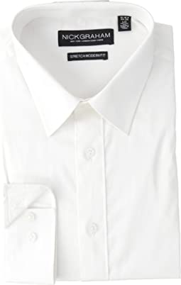 Solid Stretch Point Collar Shirt