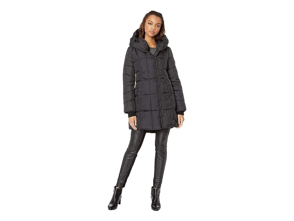 Sam Edelman Pillow Collar Puffer Jacket (Black) Women
