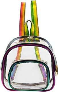 10 Inch Clear Mini Backpack PVC Transparent Bag in Rainbow Colors