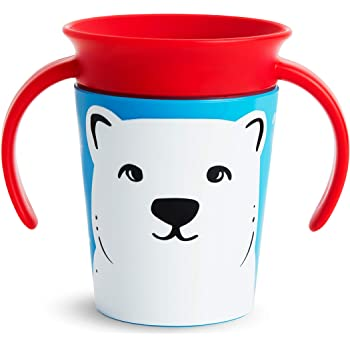 Munchkin Miracle 360 WildLove Trainer Cup, 6 Ounce, Polar Bear