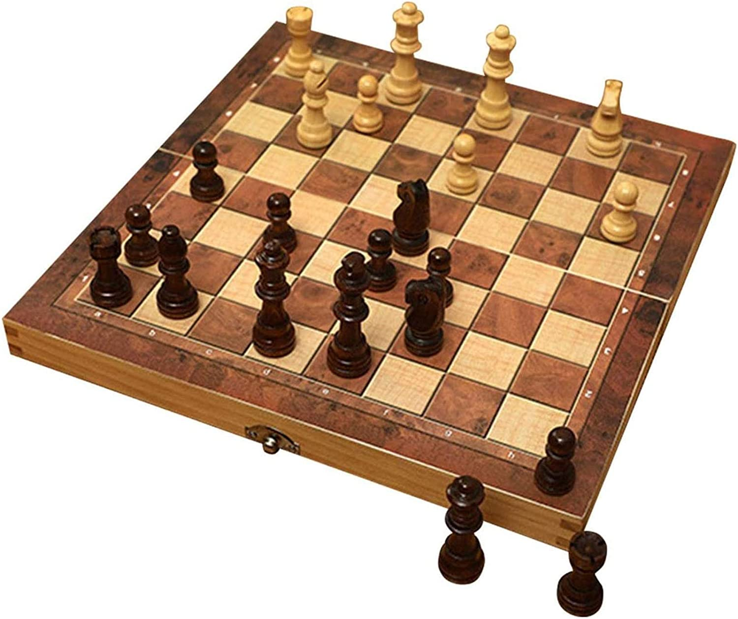 ZJYZJQ Wooden Chess Board Games Set Folding Max Max 81% OFF 76% OFF Box with