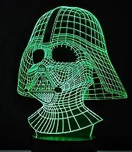 Star Wars Darth Vader Lámpara de mesa Led 3D Luz de la noche 7 Niños coloridos Regalo de iluminación Luz de la noche del bebé Led Novedad Lightsusb Recargable Niños Niñas Decoración actual para fiesta