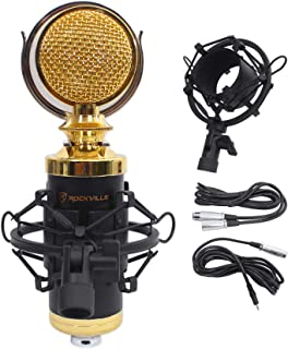 Rockville RCM02 Pro ضبط کندانسور میکروفون میکروفون میکروفون + فلزی شوک کوه