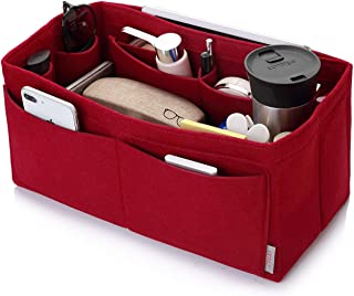 Felt Purse Organizer, Multi Pocket Bag in Bag Organizer For Tote & Handbag Shaper, Speedy30 Speedy 35 and Speedy 40, Medium, Large, Extra Large (Medium, Red)