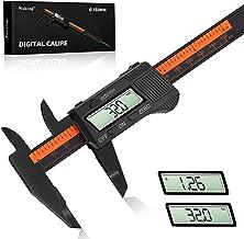 Calibro Digitale Professionale - Wukong Calibro Micrometro 150 mm/6 Pollici con Ampio Display LCD per Misurzione Esterna, ...