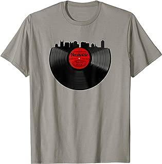 Nashville Tennessee Tee Skyline Vinyl Record Vintage T-Shirt