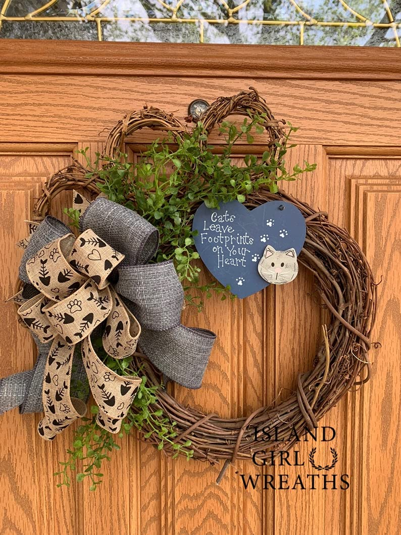 Beauty products Cat Wreath Spasm price Grapevine Paw Cats Leave Footpri