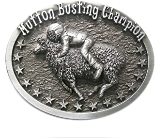 New Vintage Original Oval Mutton Busting Champion Western Belt Buckle