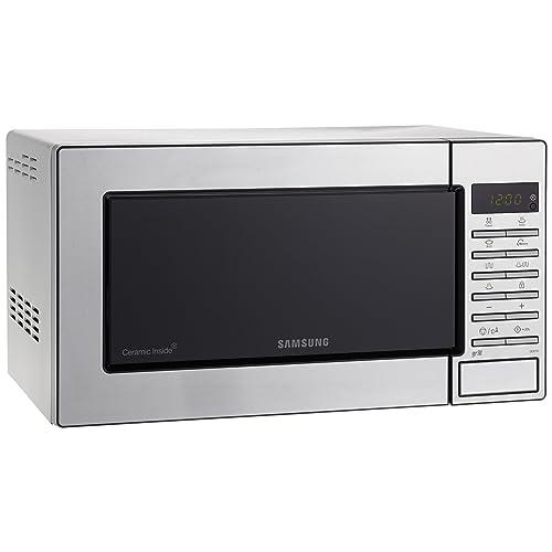 Samsung GE87M-X/XEC - Microondas con grill, 23 litros, 800 W, interior cerámico, color gris