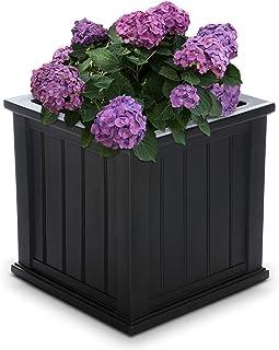 "Mayne 4838-B Cape Cod Polyethylene Planter, 20"" x 20"", Black"